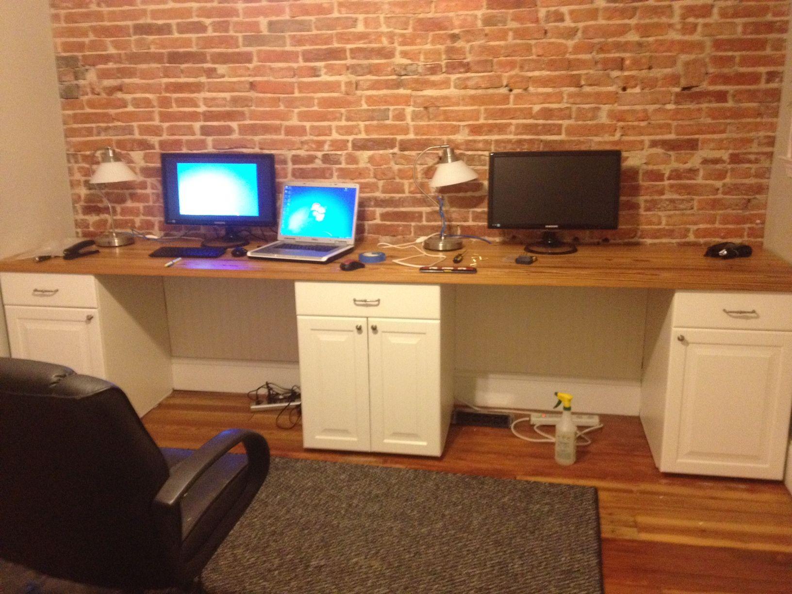 Two Person Desk Home Office   Home Furniture Design