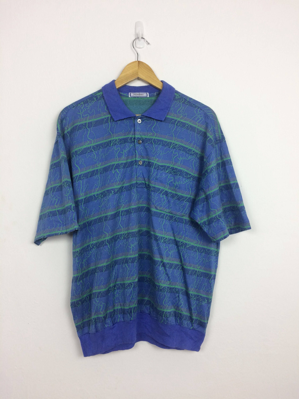 0cdfddf8f705e Vintage 90s YSL Yves Saint Laurent Retro Striped Polo Shirt Size L  #clothing #men #shirt #hiphop #ck #striped #ysl #90s