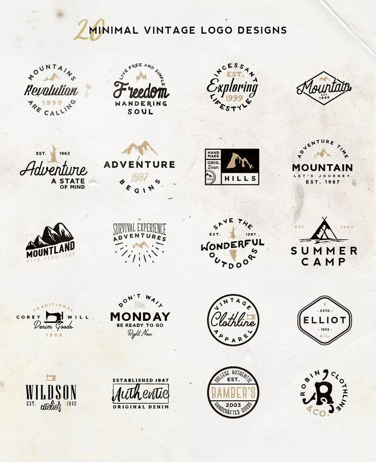 Vol 5 20 Minimal Vintage Logos Vintage Logo Vintage Logo Design Logo Design Creative