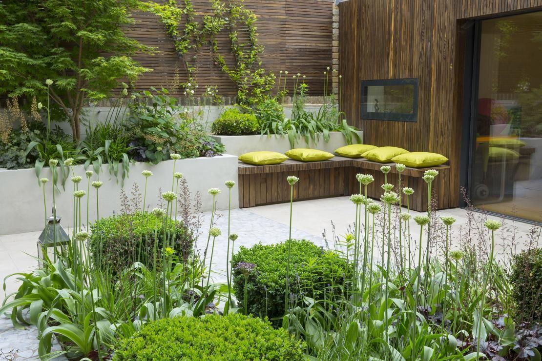 Landscape of house garden  beautiful courtyard garden  Backyard Gardens  Pinterest  Garden