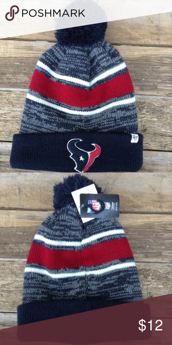 Houston Texans winter beanie Fits youth