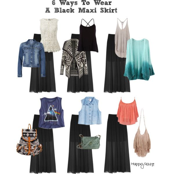6 ways to wear a black maxi skirt fashion