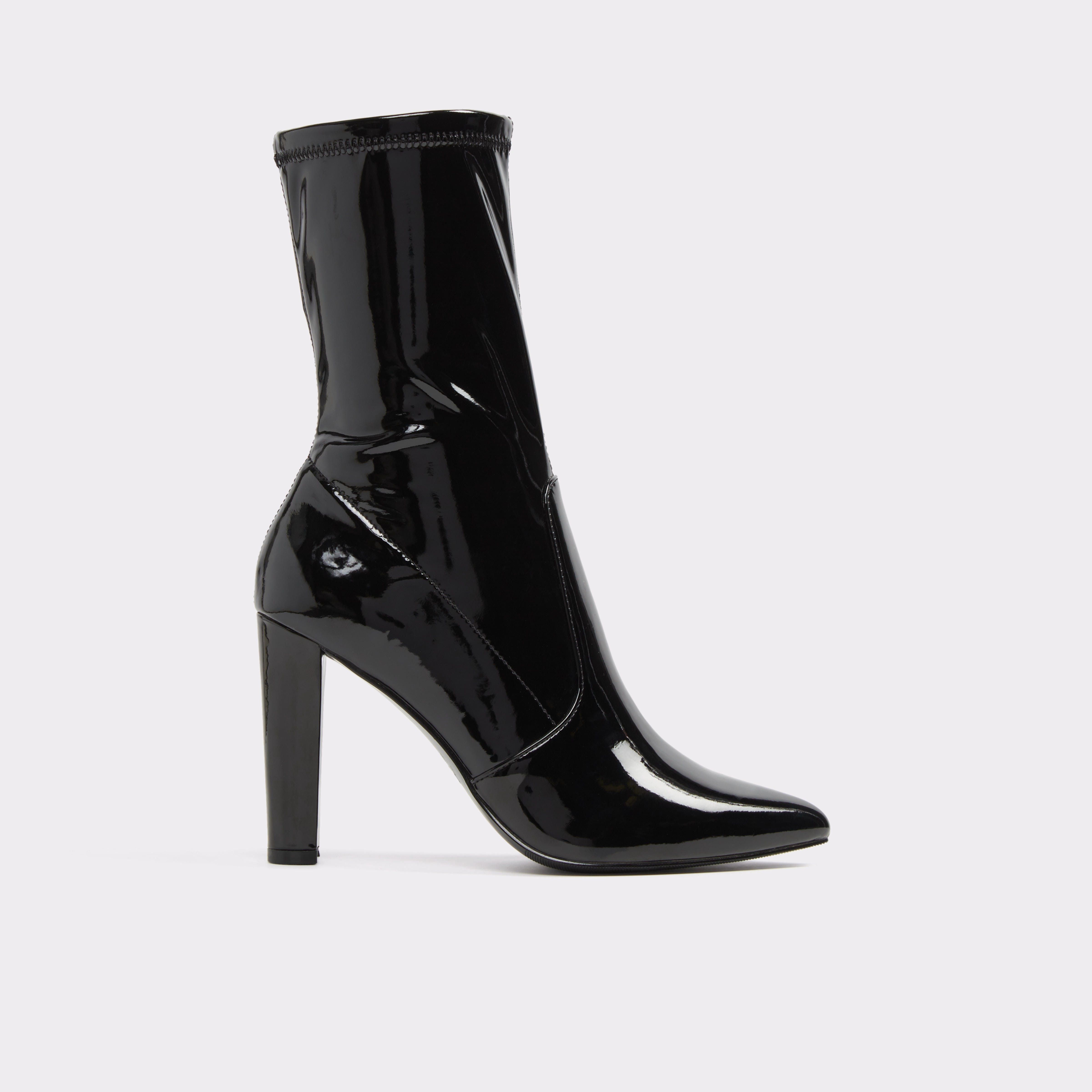 Black suedette 'Bock' high block heel sock boots cheap sale fast delivery discount wiki largest supplier sale online DXMGYn