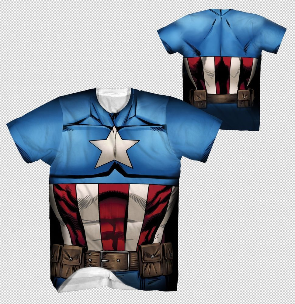 New Captain America Mucsle All Over Costume Suit Outfit Marvel ...