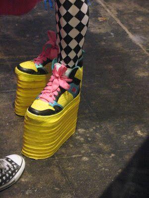 Daniellelorean Diy Platform Shoes Not That I Would Ever Wear That High Of Platforms But Cool Idea Platform Shoes Diy Fashion Shoes