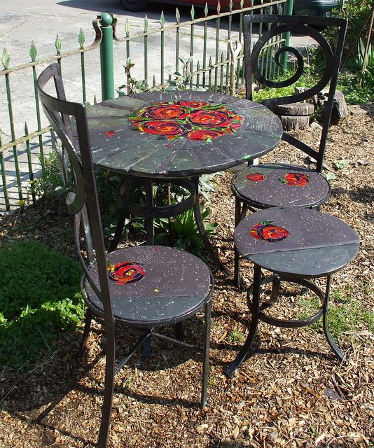 Rose Peony Furniture Set 2 Patio Furnishings Garden Furniture
