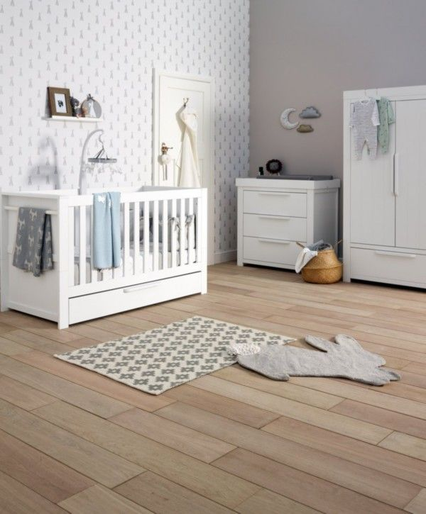 Genial Franklin Cot Bed 3 Piece Nursery Furniture Set   White And Contemporary |  Kids Rooms | Pinterest | Nursery Furniture, Cot Bedding And Furniture Sets