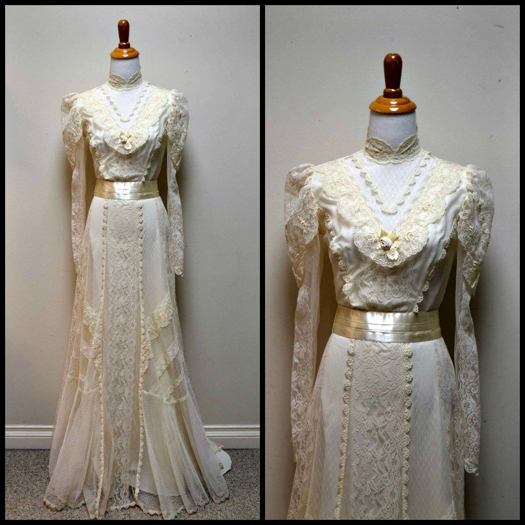 Vintage COUNTRY ELEGANCE Ivory Victorian Steampunk Downton