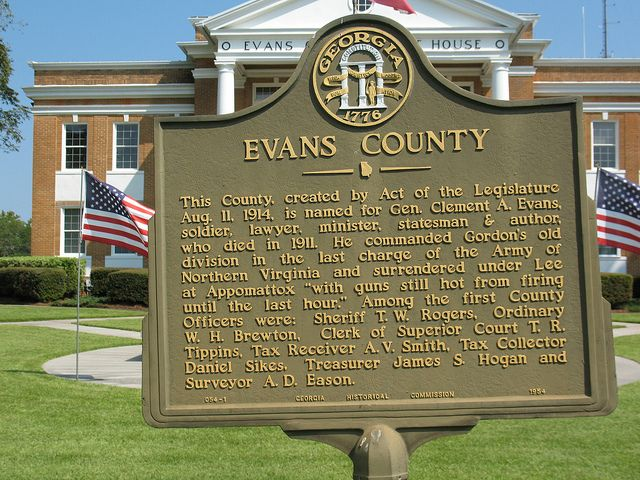 Evans County Marker Ghc 054 1 Claxton Ga Markers Places Explore