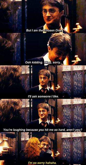I Love That Scene She Only Likes You Because She Thinks You Re The Chosen One But I Am The Cho Harry James Potter Harry Potter Jokes Harry Potter Obsession