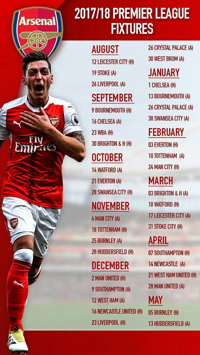 Calendario Arsenal.Pin En Premier League Inglaterra