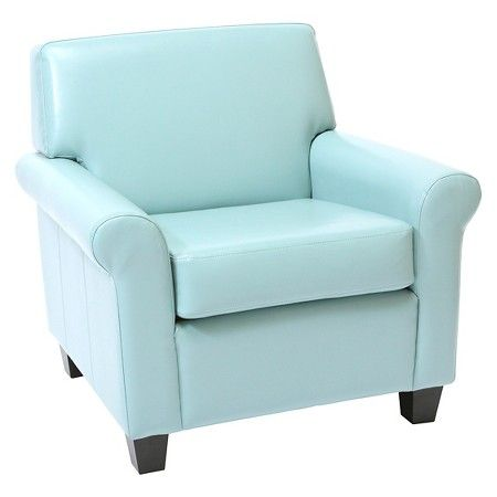 Best Oversized Bonded Leather Club Chair Blue Christopher 400 x 300