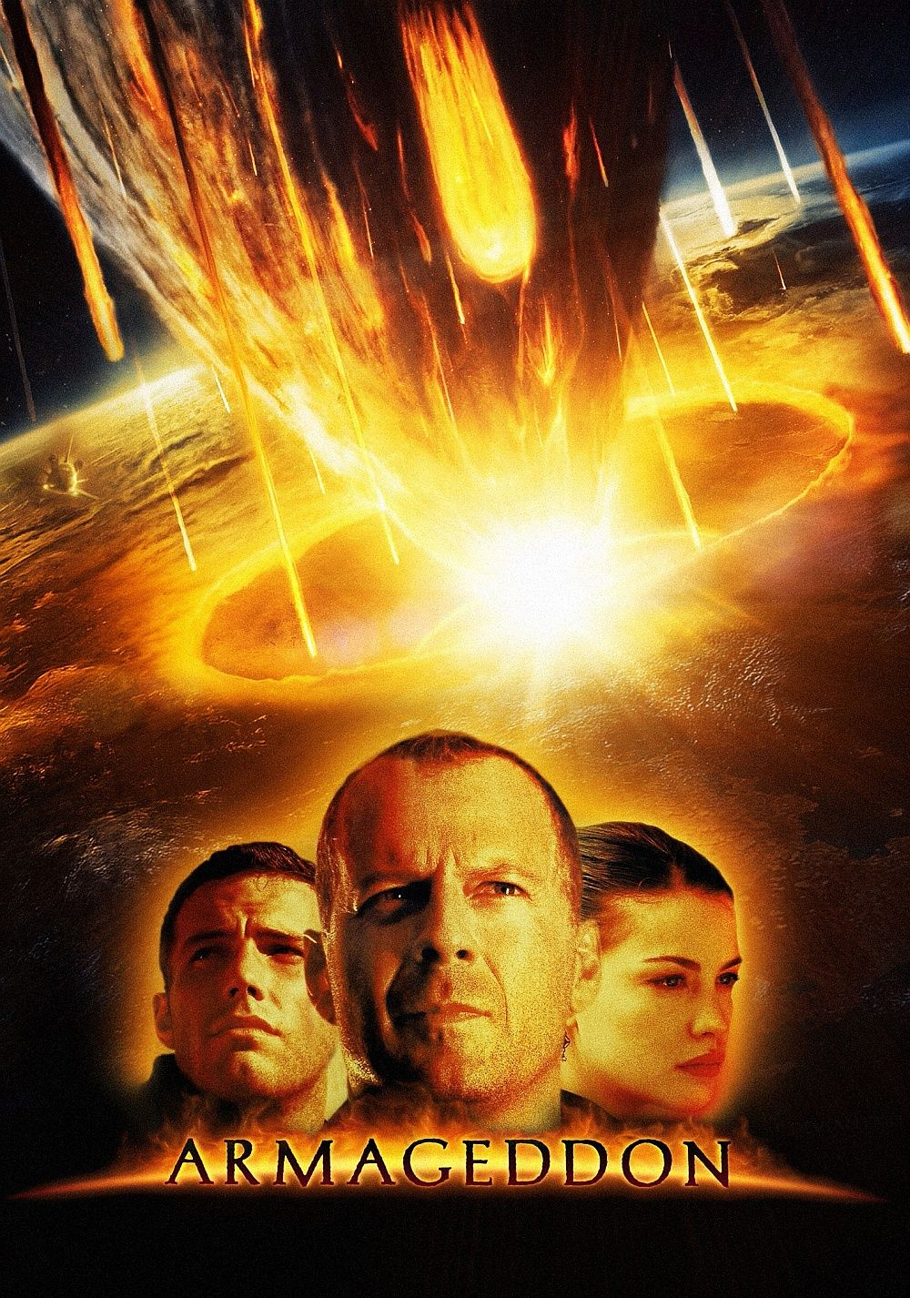 Armageddon 1998 The Earth S Darkest Day Will Be Man S Finest Hour Peliculas Armagedon Poster