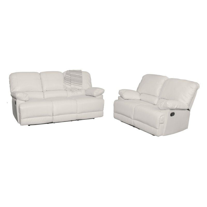 Recliner · CorLiving Lea 2 Piece Bonded Leather Reclining Sofa Set White ...  sc 1 st  Pinterest & CorLiving Lea 2 Piece Bonded Leather Reclining Sofa Set White ... islam-shia.org