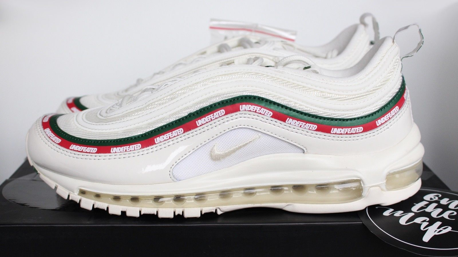 Nike x Undefeated Air Max 97 OG White Cream Red UNDFTD UK