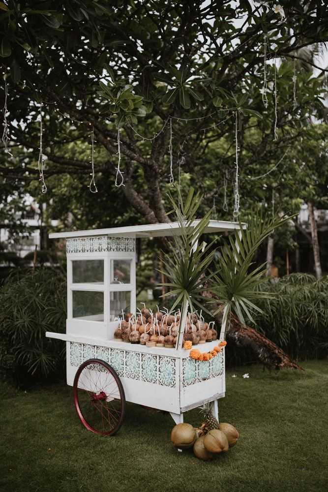 Bali Wedding With A Stylish, Fun Party Vibe With Bride In Lazaro