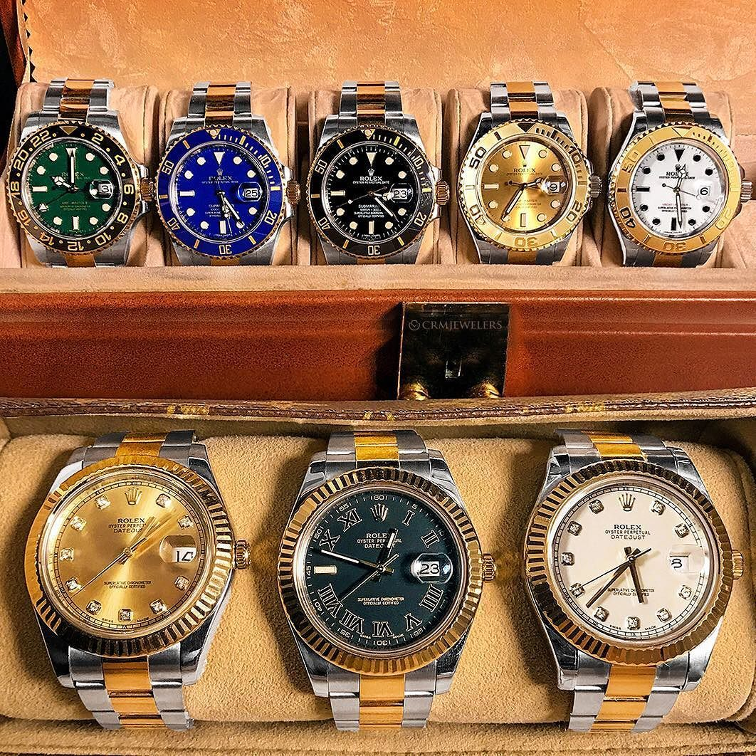 These Rolex are Which is your favorite dial color Call Email or DM us for pricing