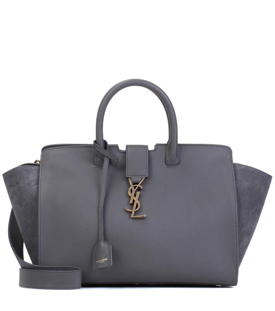... Bag Reebonz Australia  online store 02e0a c27f8 Saint Laurent - Sac en  cuir et daim Downtown Monogramme Small ... bd604cb236