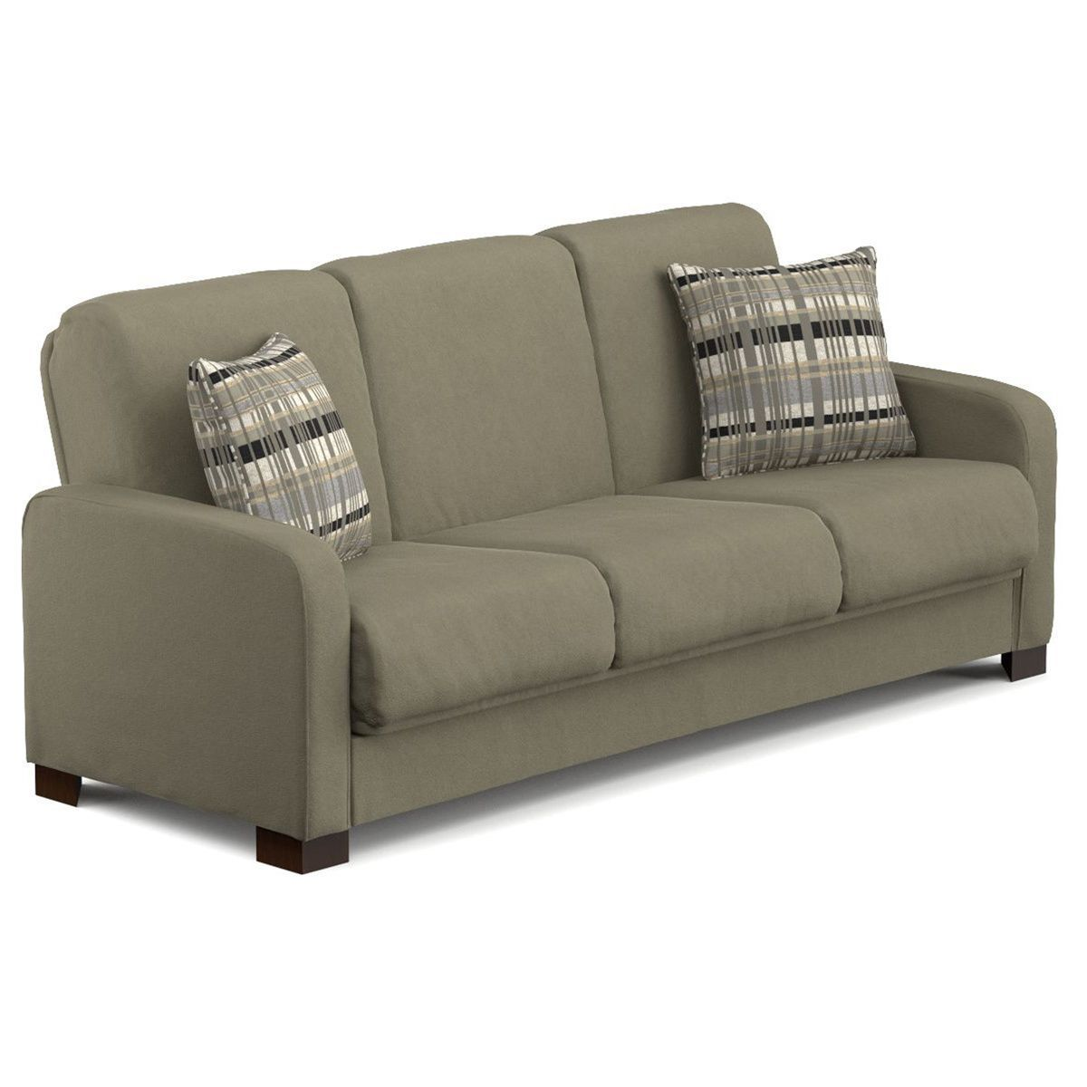 portfolio trace convert a couch sage grey microfiber futon sofa rh pinterest co uk