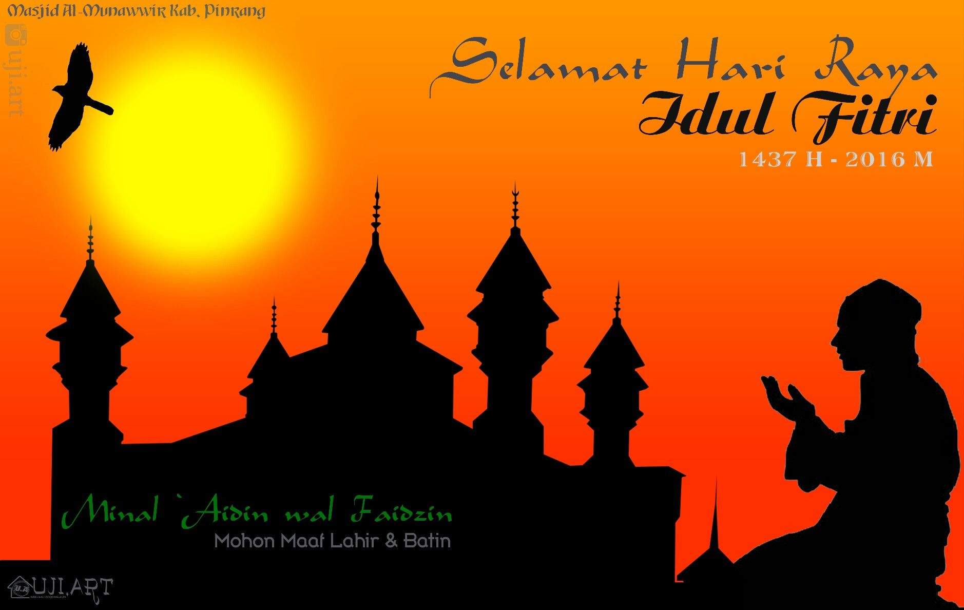 Selamat Hari Raya Idul Fitri 1437 H Minal Aidin Wal Faizin Mohon