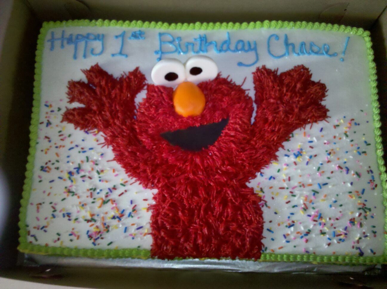 Happy Birthday Cake wElmo Miss Bliss Bakery Pinterest Elmo