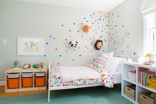 Bright and Bold Toddler Room with Animal Details images