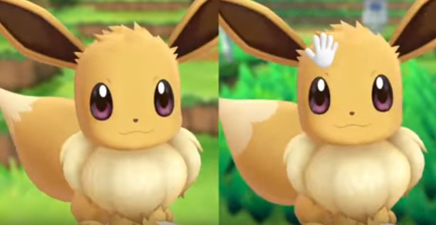 The Best Screenshot I Could Get That Shows Off The New Gender Differences Between Male And Female Eevee Eevee Pokemon Best Fan