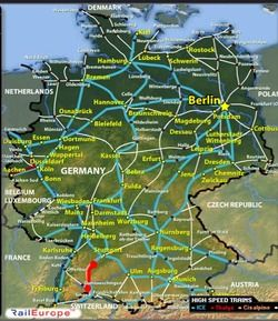 German Trains No Longer Run On Time Germany Map Germany Train Map