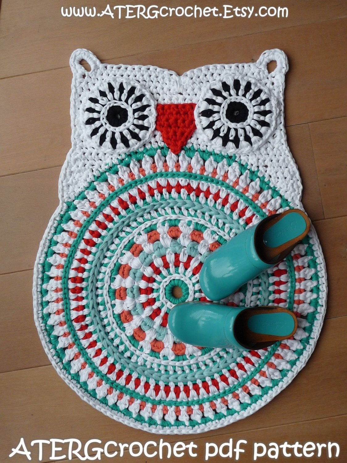 Crochet Pattern Owl Rug By Atergcrochet