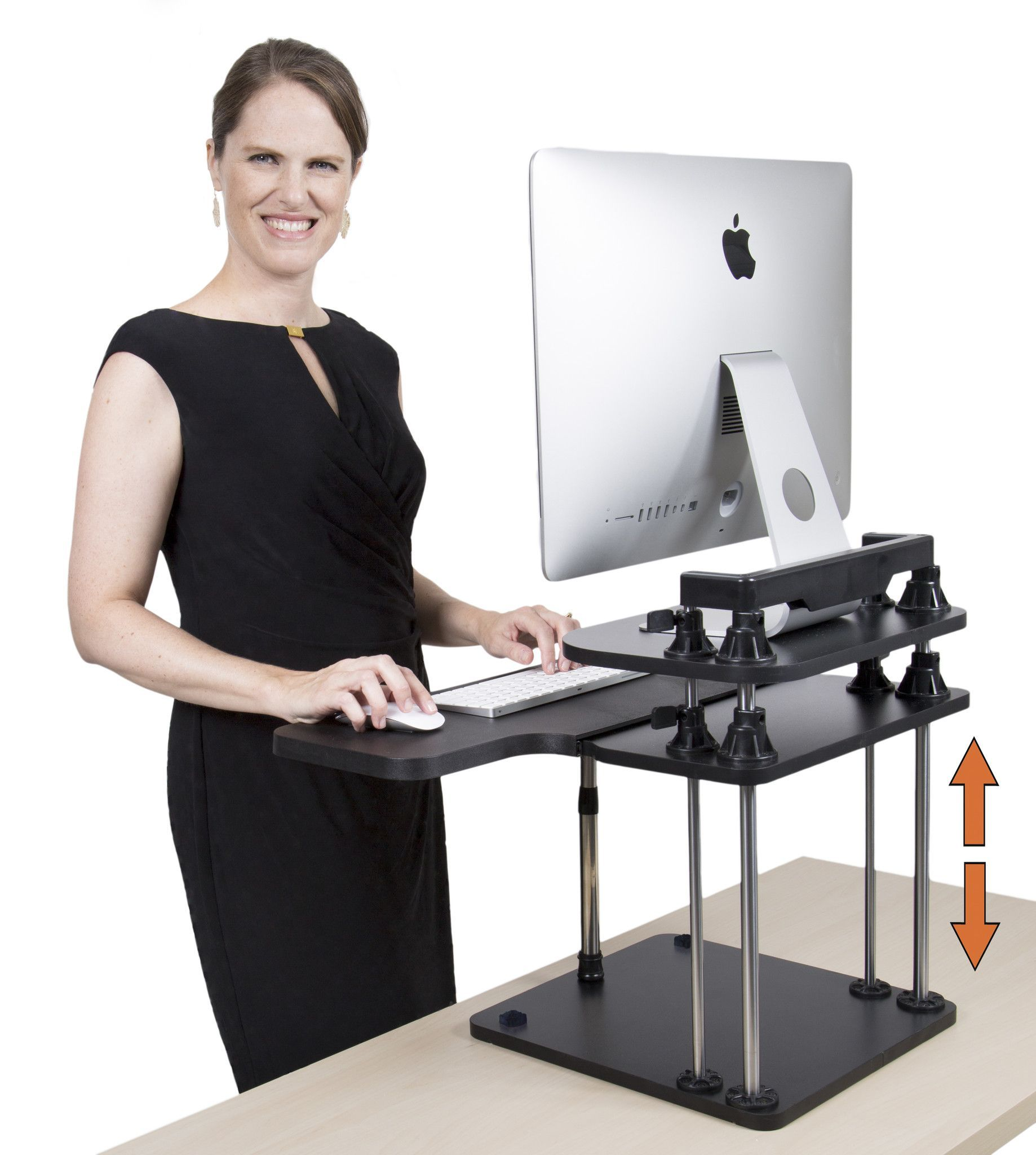 Uptrak two level sit stand desk converter pinterest