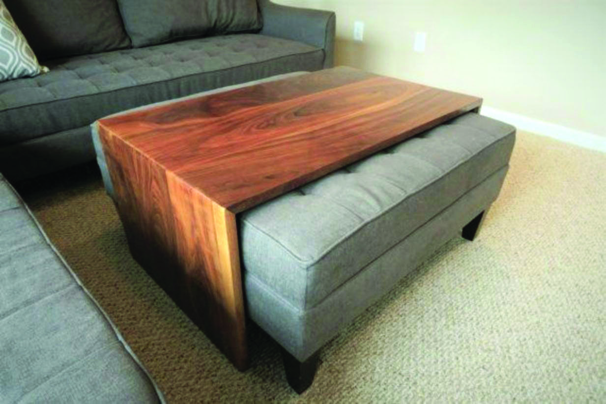 How To Transform Your Outdated Coffee Desk Into A Sophisticated Ottoman Dova Home Eclectic Living Room Mid Century Coffee Table Living Room Decor [ 822 x 1233 Pixel ]