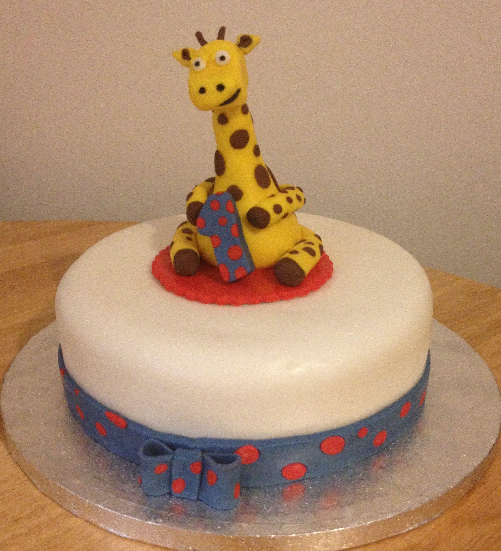 Gary the giraffe 1st birthday cake Giraffe cakes Giraffe and Cake