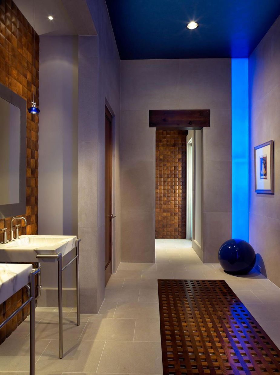Modern house interior bathroom interior luxurious home interior design completed with wine cellar