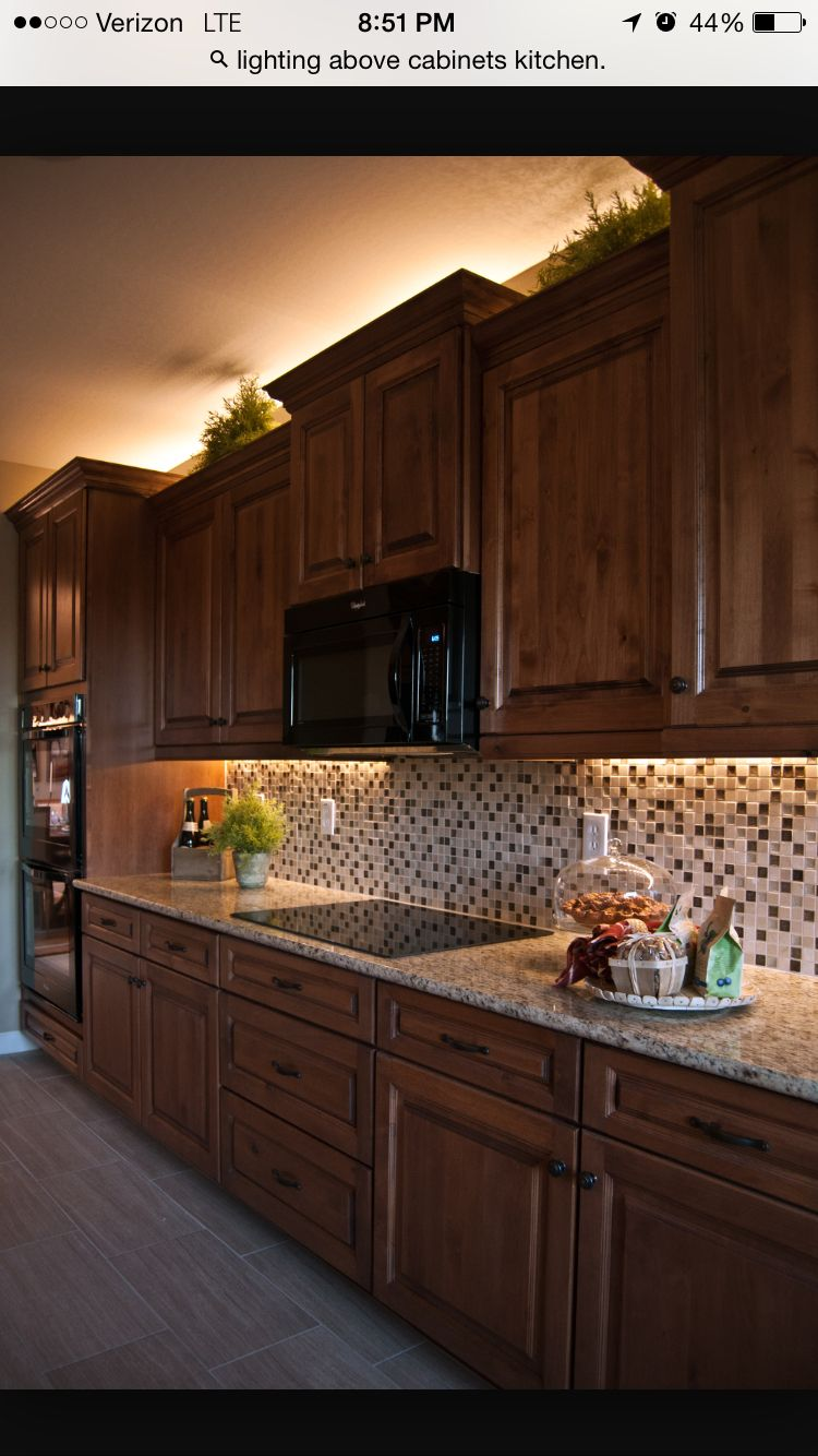 Rope Lights Above Cabinets In Kitchen Under Cabinet And Above Cabinet Lighting General House Design