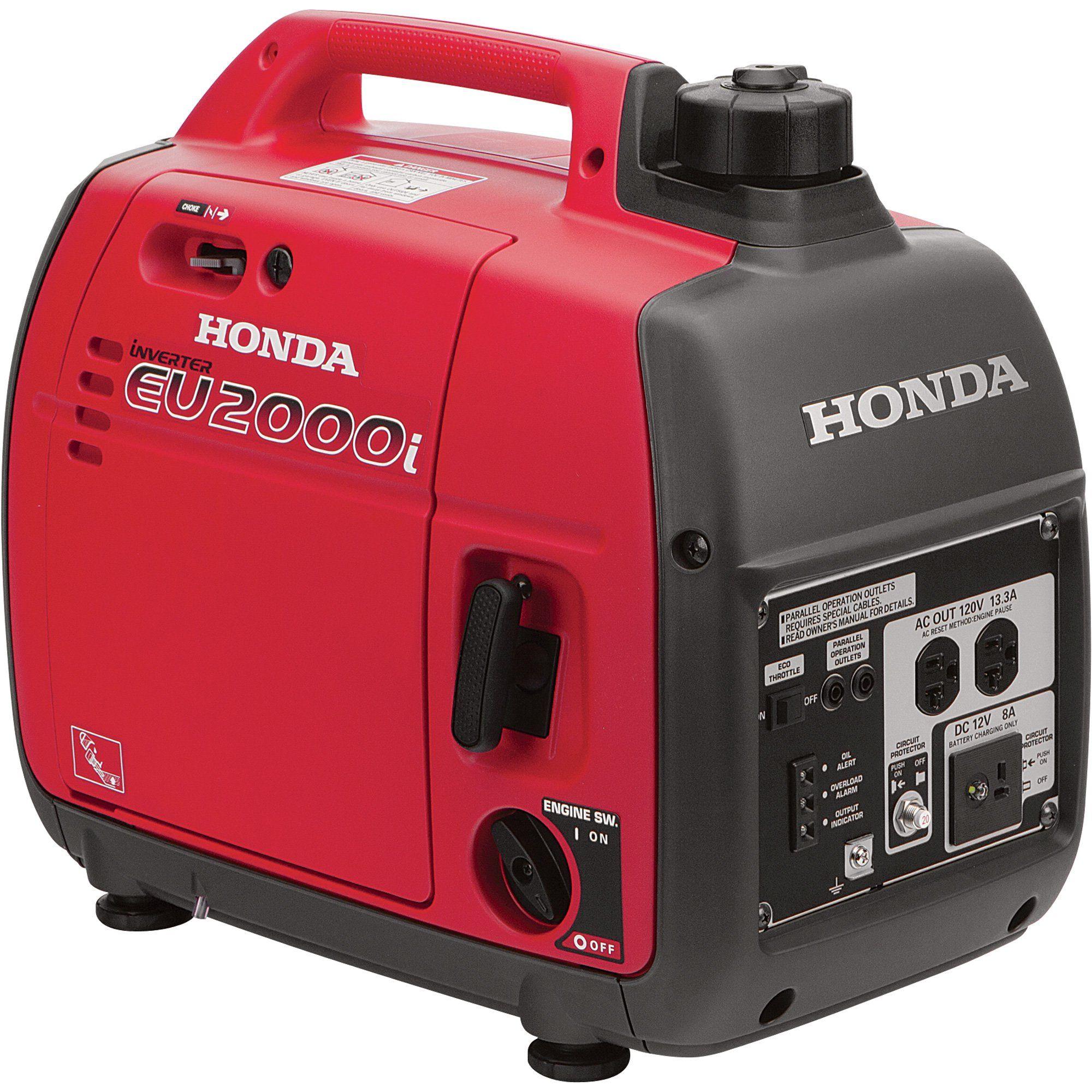 Honda Eu2200i 1800 Watt Gas Powered Portable Inverter Generator
