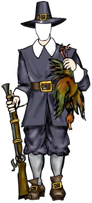 Pilgrim Male Cutout John Alden And Company Are Remembered On The
