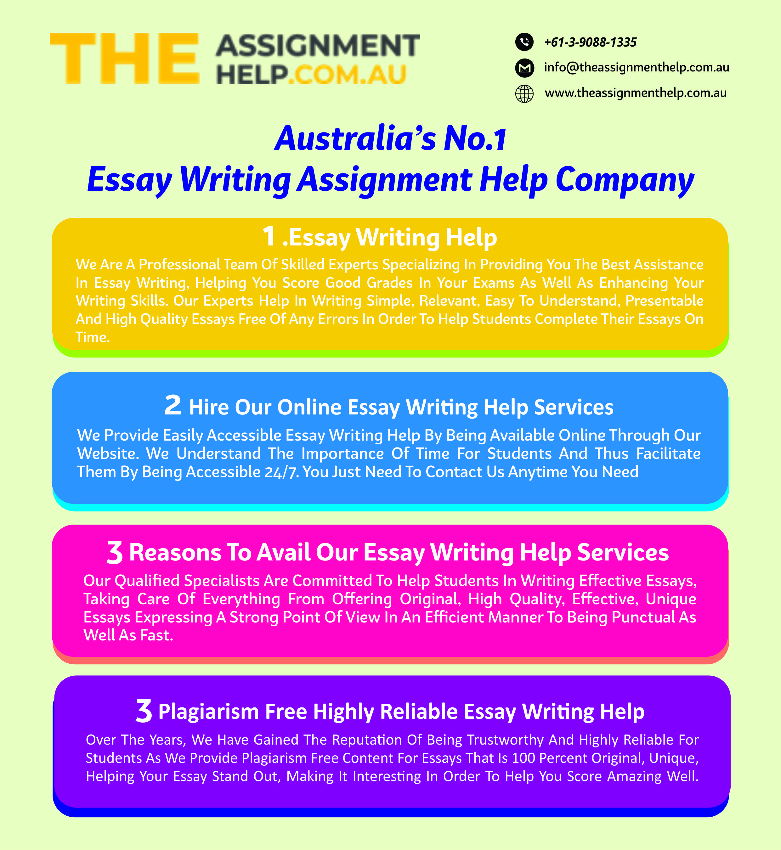 Australia essay help