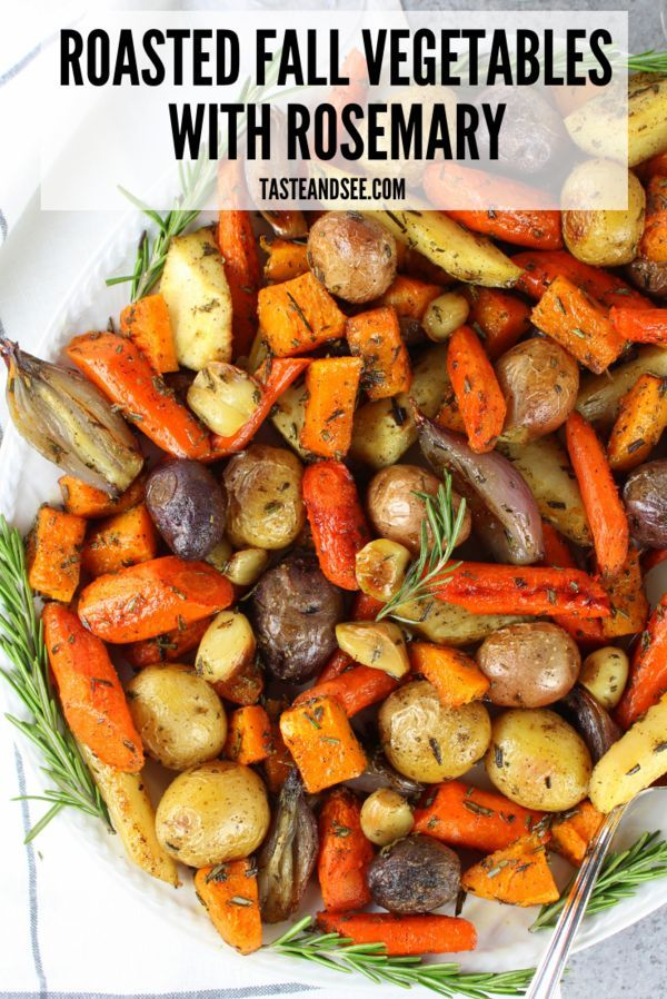 Super easy roasted fall vegetables with rosemary! The perfect veggie side for winter time cooking! With Parsnips, Carrots, Onions, & Potatoes. #Whole30 #Paleo #FallRecipes #OvenRoasted #RootVegetables #tasteandsee #fallrecipesdinner
