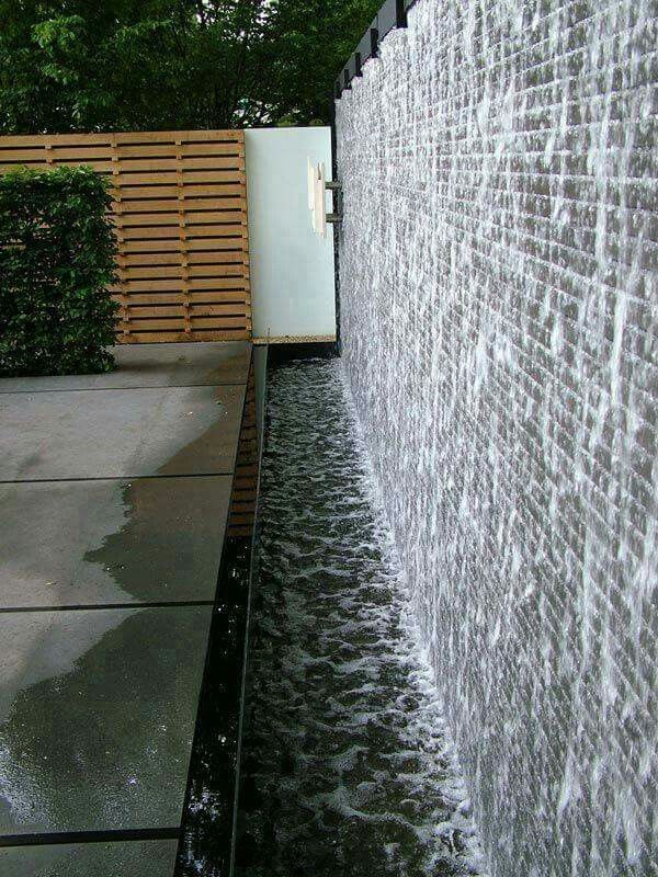 Villa Landscape Image By Adhwa Alabdulwahed Water Wall Fountain