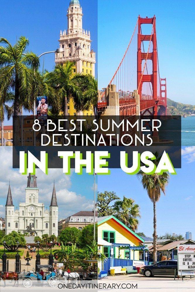8 Best Us Summer Travel Destinations Vacations In The Us Summer Vacation Destinations Summer Travel Destinations