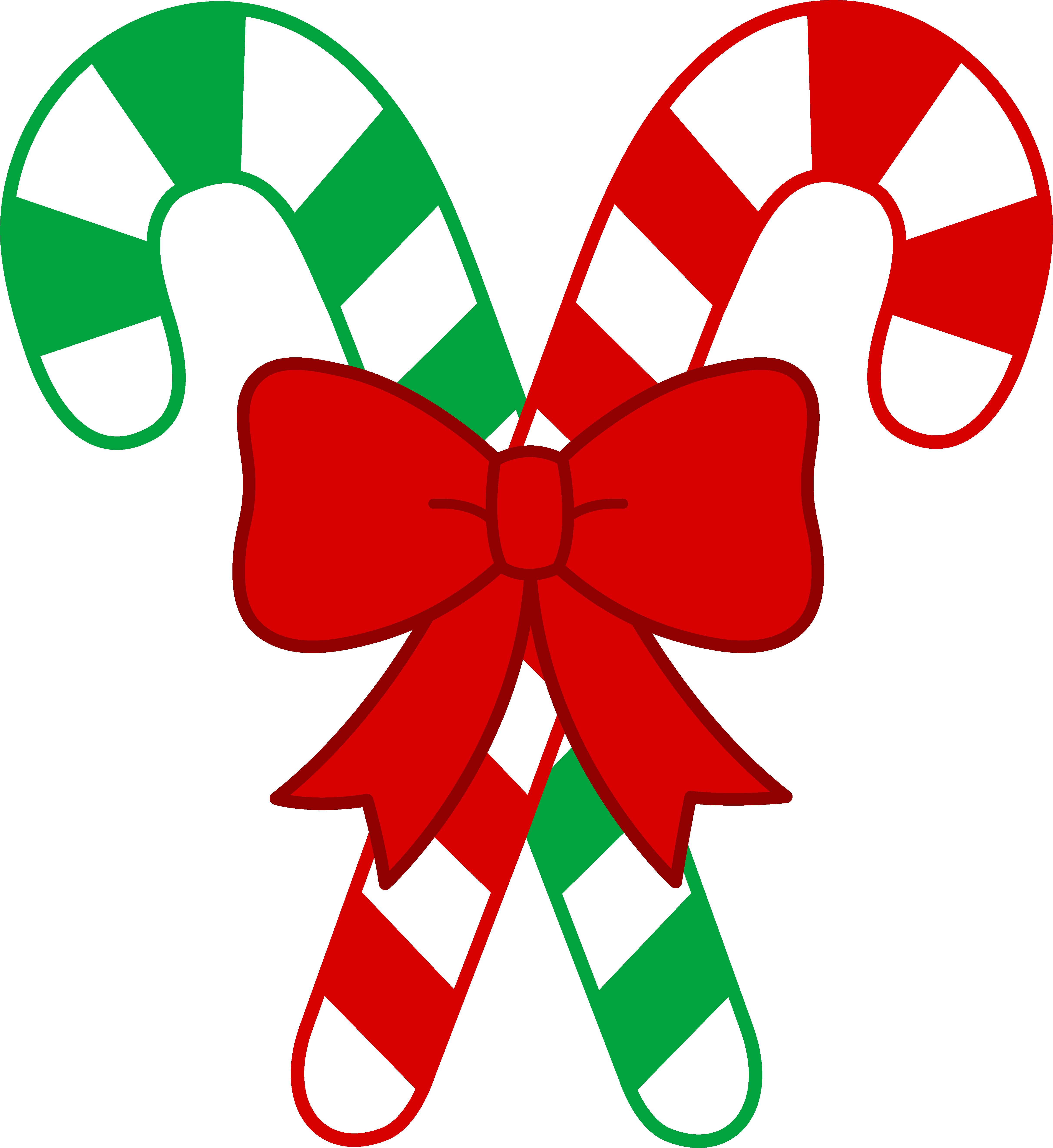 Candy Canes Tied With Bow Christmas Clipart Candy Cane Image Christmas Candy Cane