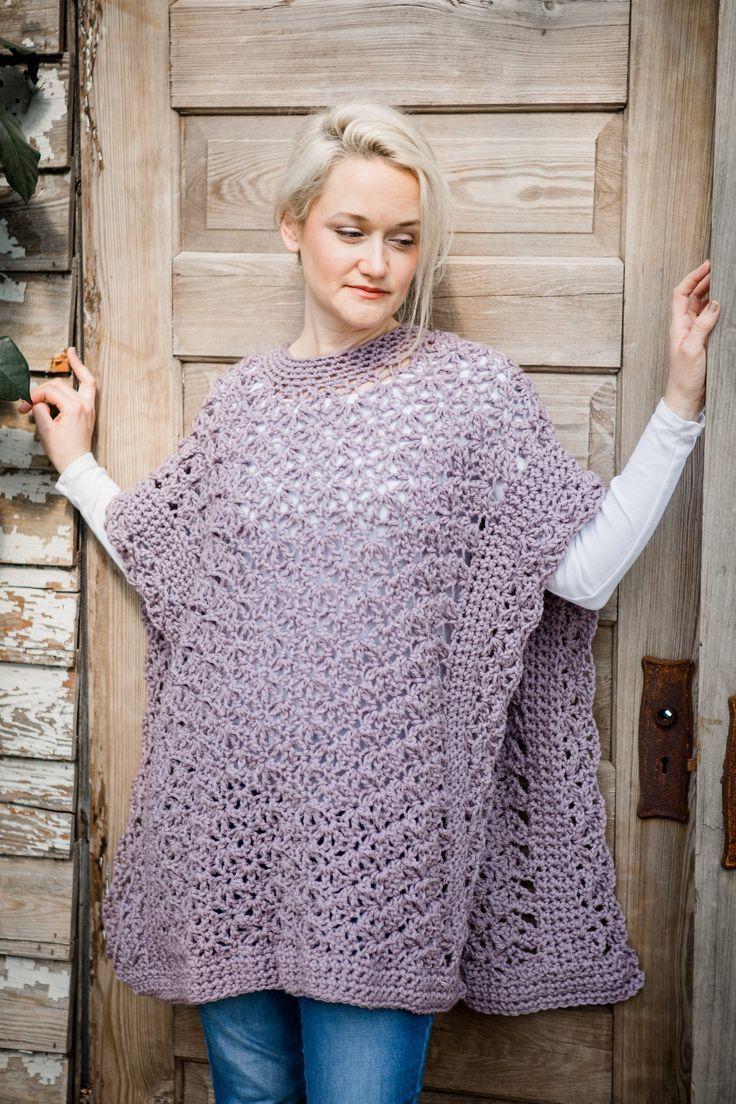 March CAL - Blooming Petals Poncho- Week One | Crochet poncho ...