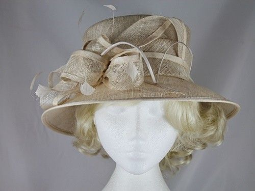 Wedding Hats 4U - Hawkins Collection Occasion Hat in Champagne 05db57af5a9f