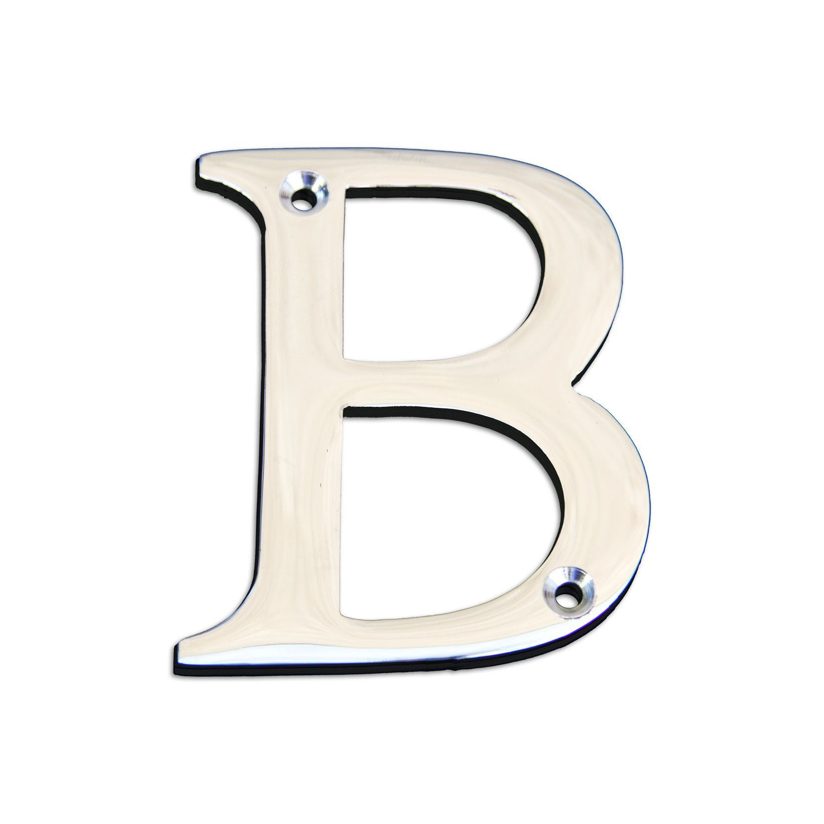 3 Inch Metal Letters 3Inch Polished Chrome Finish Brass House Letters Ad  House