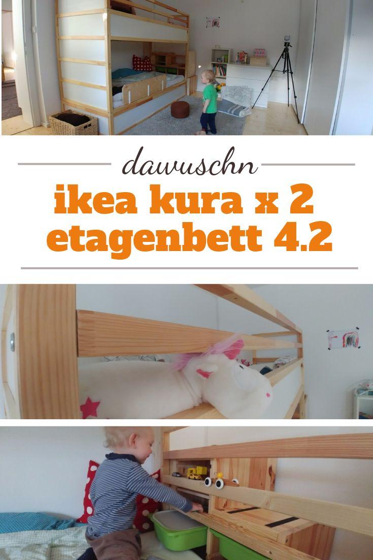 unser etagenbett aus 2x ikea kura mit add ons für mehr