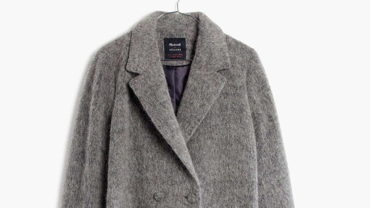 The Fuzzy Gray Coat Karina Wants to Wear Throughout Fall