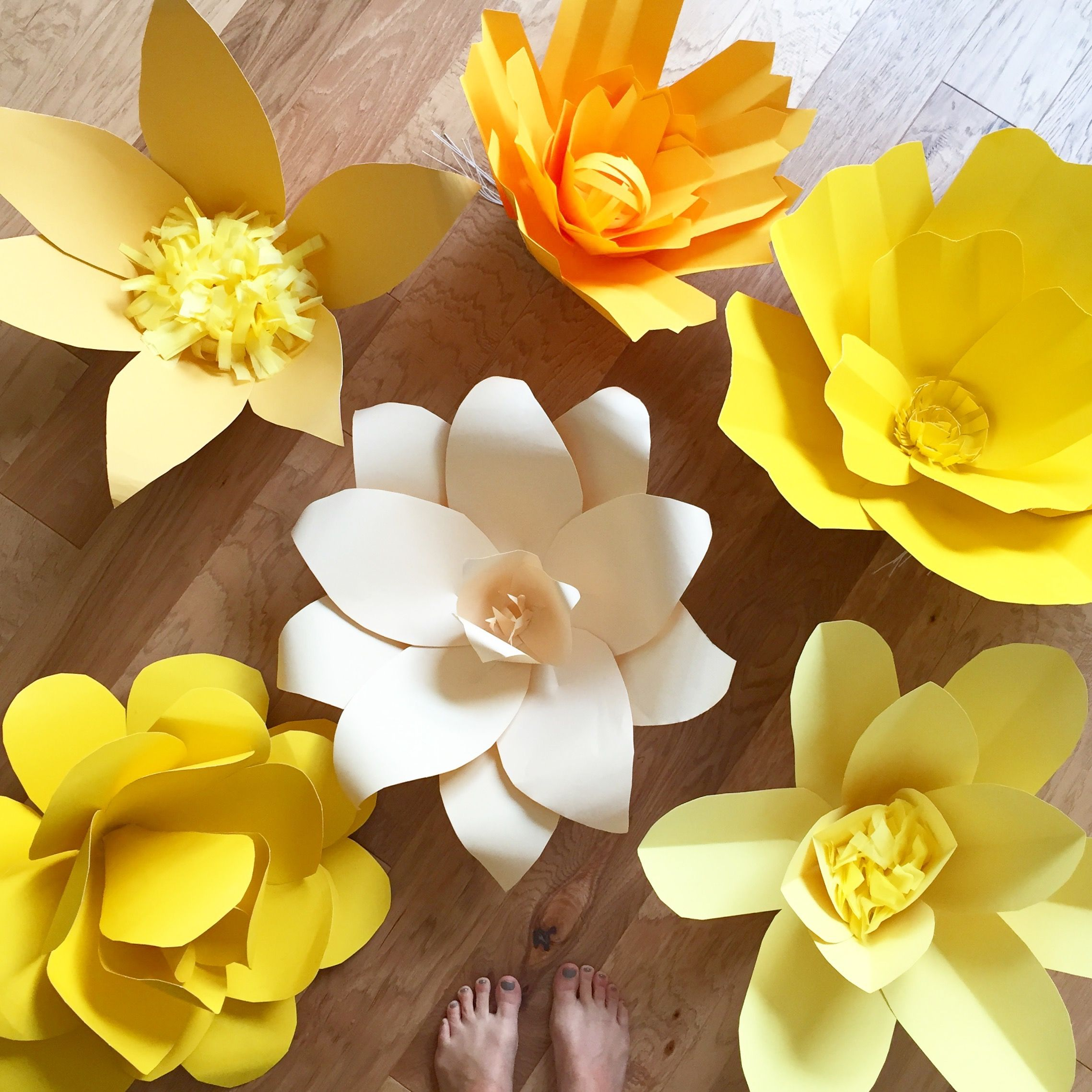 Diy Paper Flowers Wedding Arch: DIY Giant Paper Flower Arch