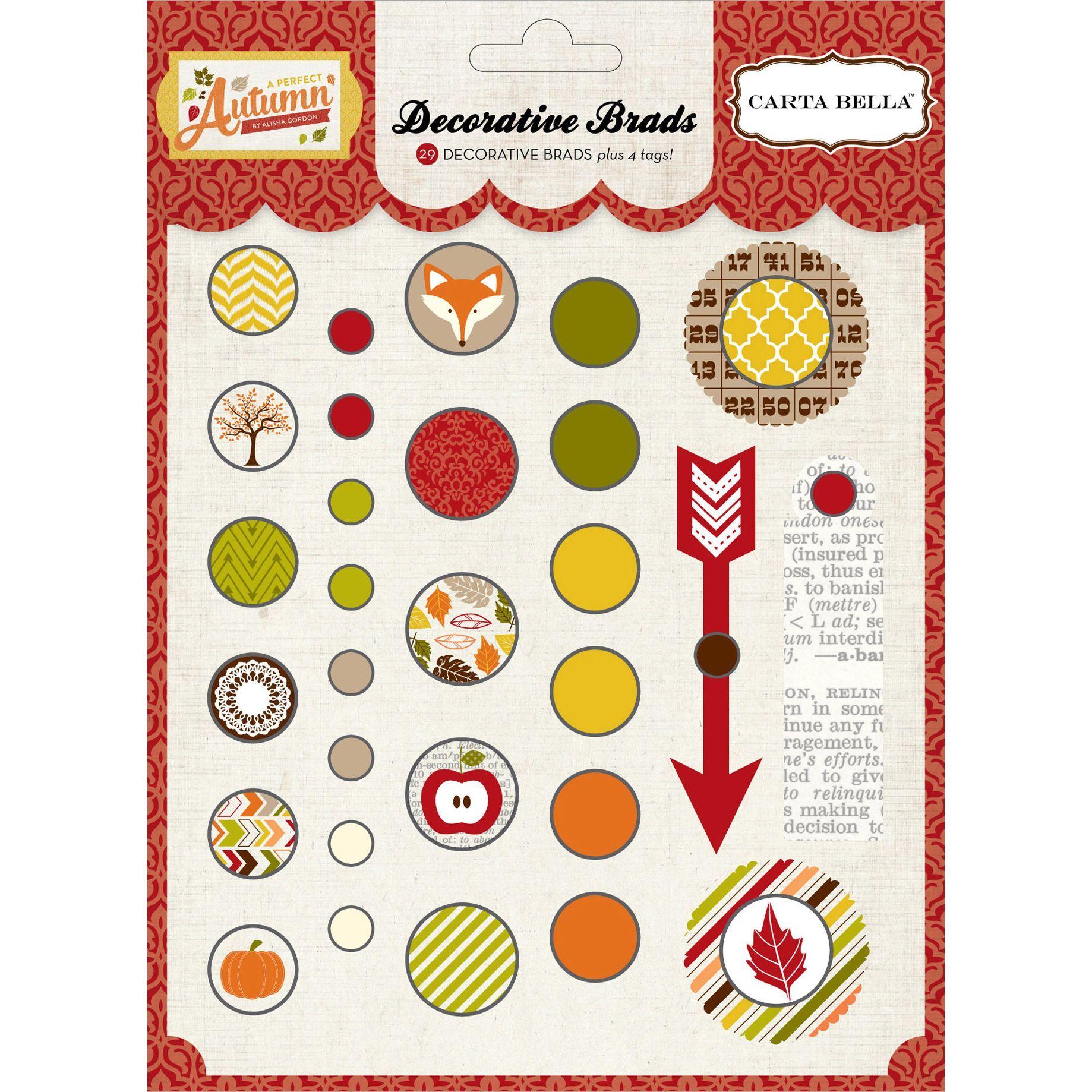 Echo Park Paper A Perfect Autumn Decorative Brads