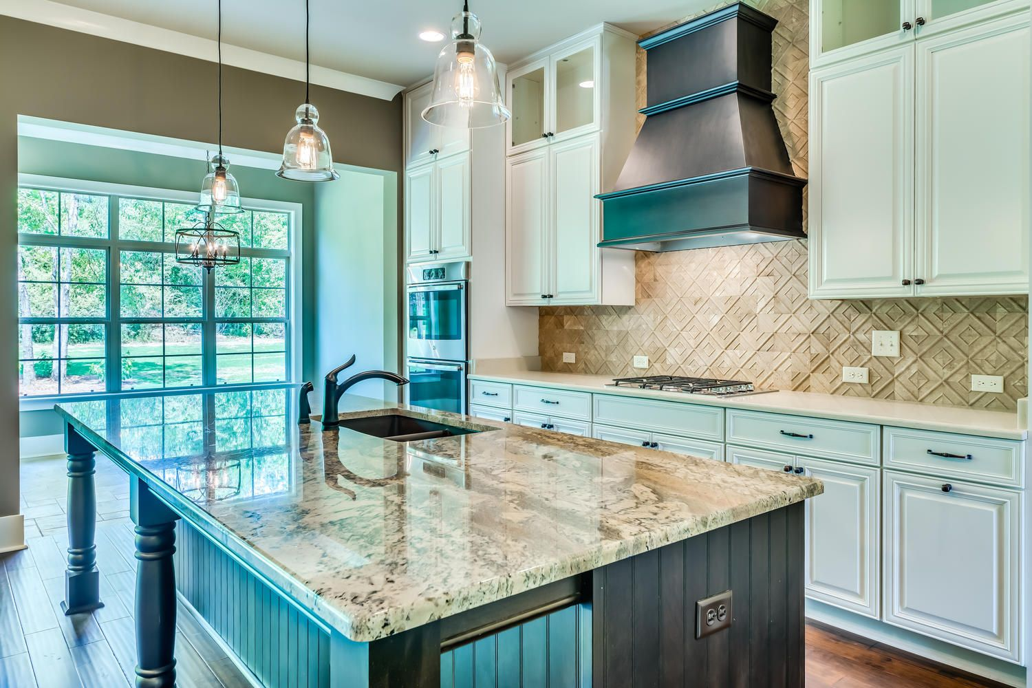 Beautiful open concept kitchen with stainless steel appliances, an ...