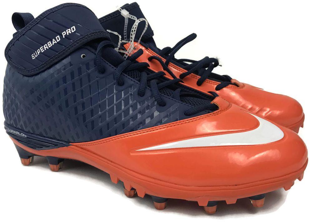 reputable site 7de2b 78160 NEW Nike Lunar Superbad Pro Football Cleats Mens Size Sz 12.5 Broncos  534994-406